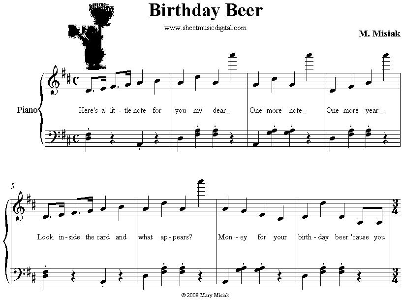 Piano happy birthday piano sheet music : happy birthday sheet music for piano