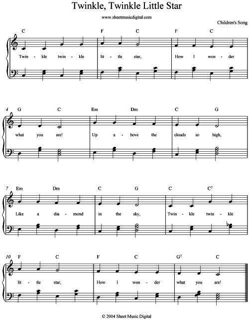 Guitar guitar tablature twinkle twinkle little star : Piano : piano tabs twinkle twinkle little star Piano Tabs Twinkle ...